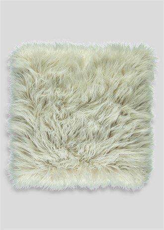Cojín de pelo sintético de Mongolia de imitación grande (58 ...