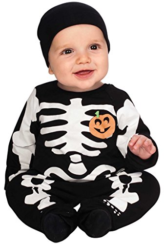 Rubie's My First Halloween Black Skeleton Costume, Black, Newborn -