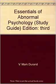 study guide abnormal psychology Overview abnormal psychology the study of people who suffer from psychological disorders defining abnormality common characteristics harmful/disturbing to.