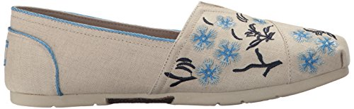 Blossom Women's Skechers Flat Cherry BOBS On Luxe from Slip Fashion Natural HqxBfqvEw4