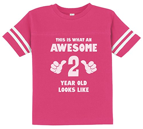 This Is What an Awesome 2 Year Old Looks Like Funny Toddler Jersey T-Shirt 2T Wow (2 Year Old Birthday Ideas)