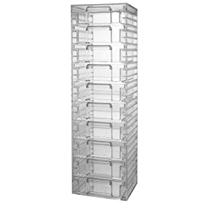 Amazon Clear Plastic Organizer With 10 Removable Drawers