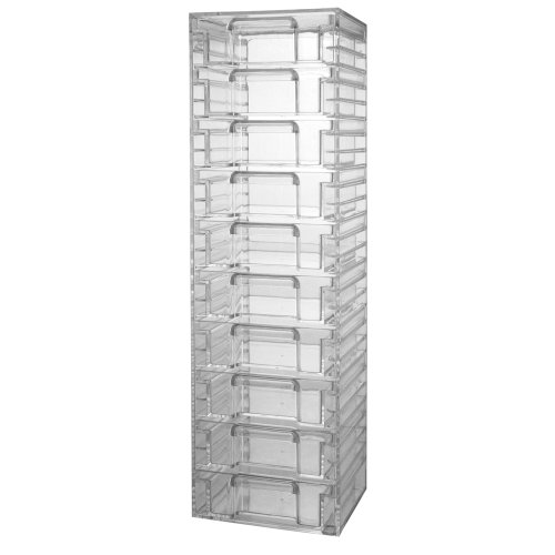 Clear Plastic Organizer with 10 Removable Drawers