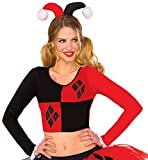 Rubie's Costume Company Women's DC Comics Harley Quinn Crop Top, Small/Medium