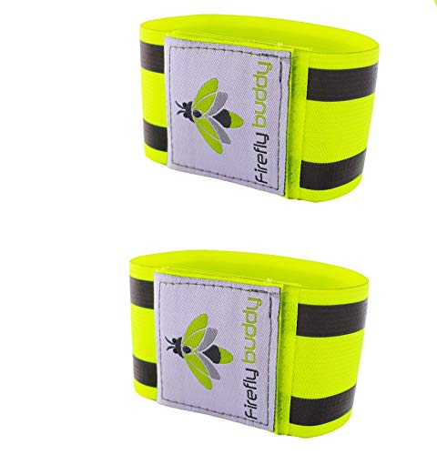 Firefly Buddy. Pack of 2 x Great Reflective Arm/Ankle Elastic Bands for Running, Cycling, Biking, Walking. Best Safety…