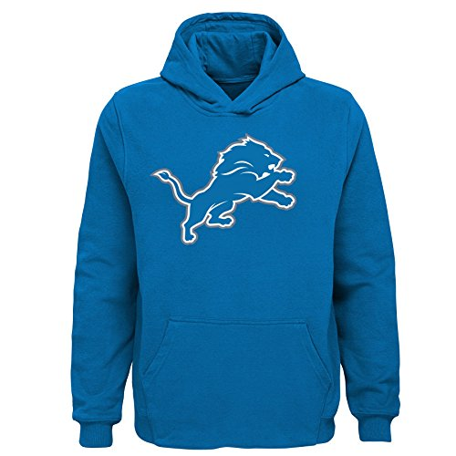NFL Detroit Lions Toddler Primary Logo Sueded Classic Hoodie Lion Blue, -