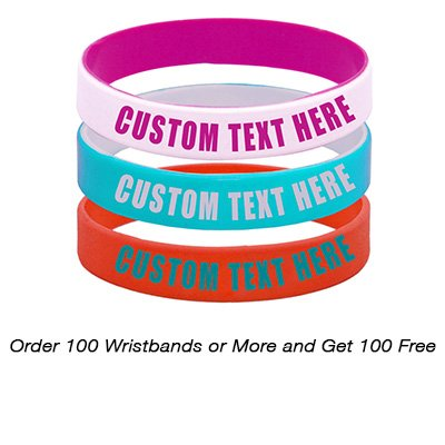 PROMOKING Customizable Silicone Debossed Wristband (100qt)