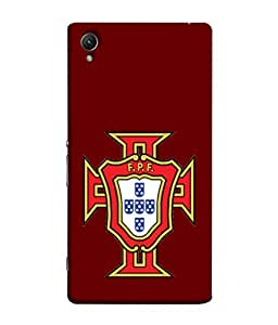 ColorKing Football Portugal 08 Red shell case cover for Sony Xperia Z5 Premium