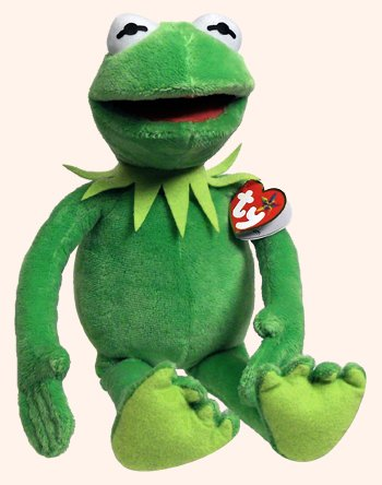 Ty Beanie Buddies Muppets Kermit Frog Plush, Medium ()