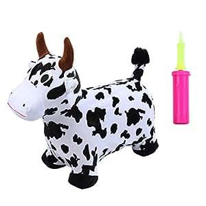 Amazon.com: Markmall - Caballo de vaca hinchable con bomba ...