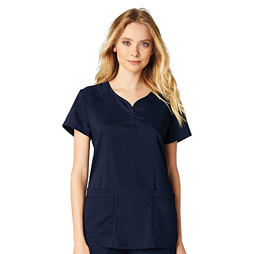 - koi Lite Women's Gratitude Sweetheart Neck Solid Scrub Top XX-Large Navy
