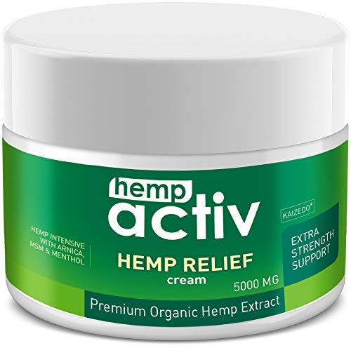 HEMPACTIV Hemp Pain Relief Cream  | Hemp + MSM + Arnica + Menthol | Relieve Muscle, Joint & Arthritis Pain | Effective Hemp Pain