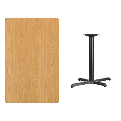 30'' x 48'' Rectangular Natural Laminate Table Top with 22'' x 30'' Table Height Base ()