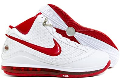 best sneakers 80abb 0d010 NIKE Air Max Lebron VII NFW White Varsity Red Mens Shoes 383578-161-