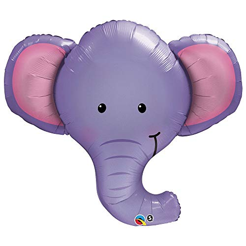 BirthdayExpress Qualatex Ellie The Elephant Microfoil Balloon, 39-Inches (1-Unit)