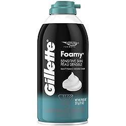 Gillette Foamy Shaving Cream, Sensitive Skin, 11 Ounce