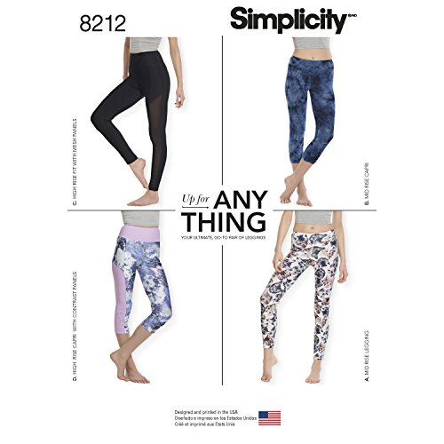 Simplicity Creative Patterns US8212A 8212 Simplicity Pattern 8212 Misses' Knit Leggings