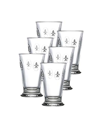 French Fleur De Lis - La Rochere Set Of 6, 10-ounce Fleur De Lys Double Old Fashioned Glasses