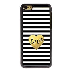 WQQ The Love Design Aluminum Hard Case for iPhone 5C
