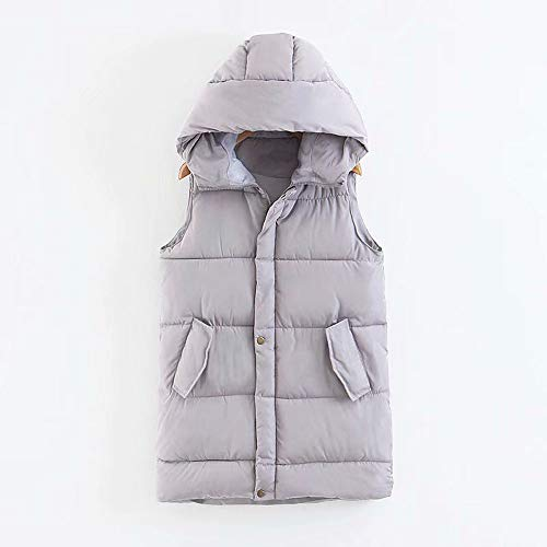 fashion Down Coat Donna Hooded Giacca Womens Jacket Da Grigio Vest Outdoor Alla Moda Pocket IC7WqqU4w