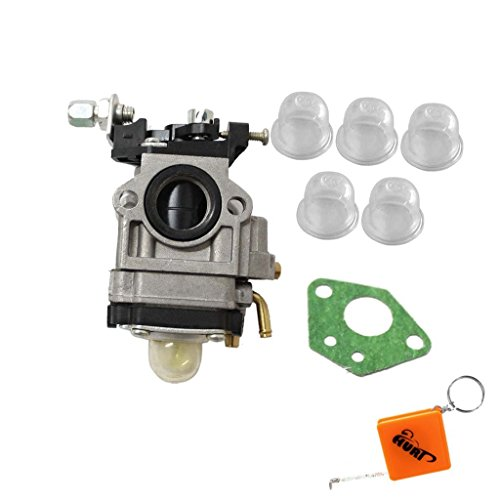 HURI Carburetor with Primer Blub Gasket for 43cc 49cc Pocket Bike Mini Quad Gas Stand-up Scooters Dirt Bikes X1 X2 X3 X7 2 Stroke Engine (Mini Quad Gasket compare prices)