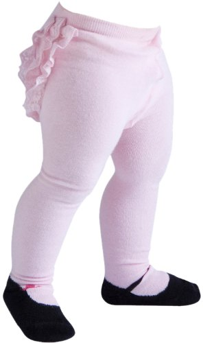 JazzyToes Mary jane Lacy Baby Tights, Pink, 12 24 Months by Jazzy Toes