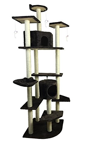 iPet Cat Tree Condo Furniture Cat Scratch Post Pet House, Brown by i'Pet