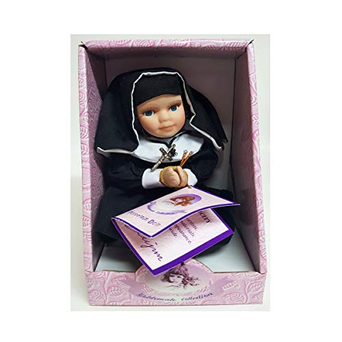 """Goldenvale Collection """"Theresa Porcelain Nun Doll w/Crucifix 6"""""""