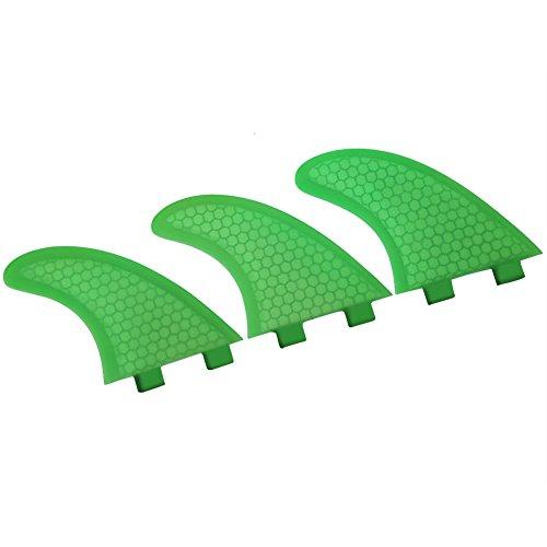 Thruster Surfboard Fins (3 Fin) FCS Surfboard Thruster Surf Fins Fiberglass for Longboard & Paddleboard (G5)