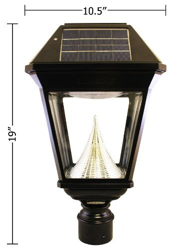 Imperial II Solar Lantern, 3'' Fitter, Single Head, Black