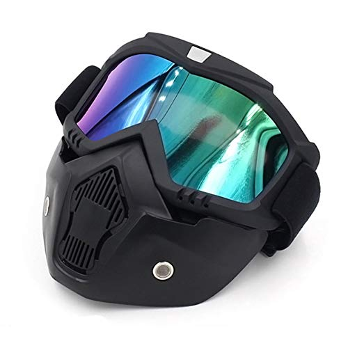 - anyilon Motorcycle Helmet Riding Off-Road Equipment Outdoor Harley Goggles Mask Plate Lens Mask Goggles Anti-Ultraviolet