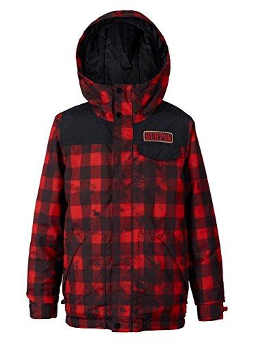 Burton Fiber Snowboard (Burton Boys Amped Jacket, Tie Dye Buffalo, X-Small)