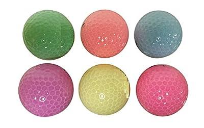 Woman's Fun Pastel Colors Golf Balls (6 pack)