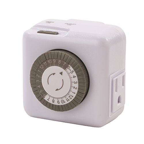 400A Series Indoor General Purpose Mechanical Heavy Duty 24 hour Timer, Grounded Plug, 15 Amp Current, 30 Minutes by TORK a brand of NSi Industries, LLC (Image #3)