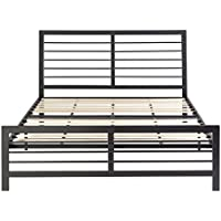 14 inch Icon Sleep Premium Quality Strong Steel Base - Platform Bed Frame - Mattress Foundation with Headboard (Queen)