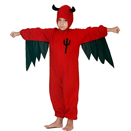 [Devil Child Costumes (7-9Y, Red)] (Red Devil Child Costume)