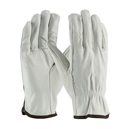 Regular Grade Top Grain Cowhide Leather Drivers Glove - Straight Thumb 68-103/L, (10) ()