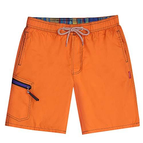 iCODOD Fashion Men's Shorts Casual Boxers Swimwear Swimsuit Swim Trunks Wide Summer Trouser Shorts Pants Orange L