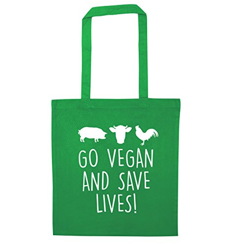 lives vegan and save Go bag tote Green vegan Go nTw6OOX