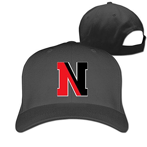 MZONE Cool Northeastern University N Logo Unisex Summer Caps Hat Black (Northeastern University Hat)