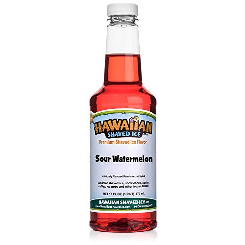 Hawaiian Shaved Ice Sour Snow Cone Syrup, Watermelon,