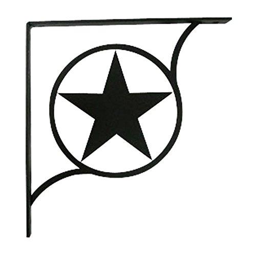 Village Wrought Iron 9.25 Inch Western Star Shelf Bracket...