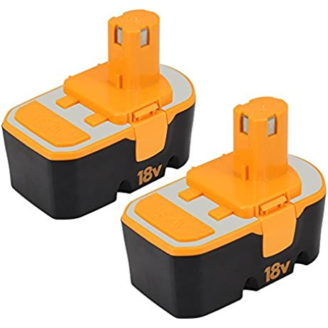 Dosctt Replace For Ryobi One Plus 18V Battery 3000mAh P100 P101 130224028 130224007 130224054 130255004 Cordless Power Tools Battery Pack Of 2
