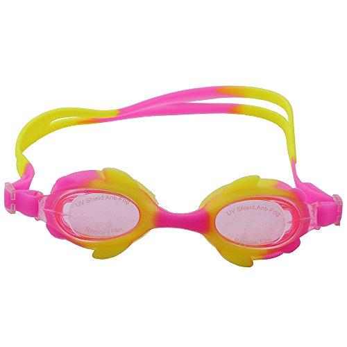 des de natation fuite enfant enfants anti lunettes natation uv natation jeunes de Pinkyellowpink avec triathlon de femmes de pour lunettes adultes et hommes ogobvck brouillard protection protection lunettes de des nzRxHqHXw
