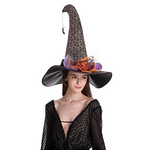 sdsaena Women's Luxury Party Halloween Witch hat 17.5