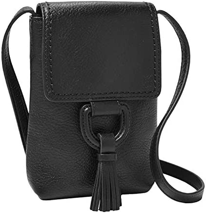 Fossil Women's Bobbie Leather Phone Wallet Crossbody Purse