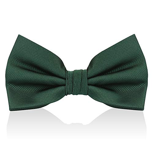 Emerald Green Bow Ties For Men - Mens Woven Pre Tied Bowties For Men Bowtie Tuxedo Solid Color Formal Bow Tie ()