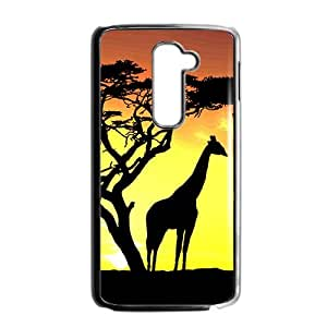 Sunset scenery deers Phone Case for LG G2