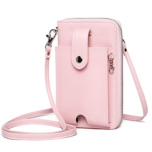 Women RFID Wallets Crossbody bag Phone Purse with earbud Power bank Organizer