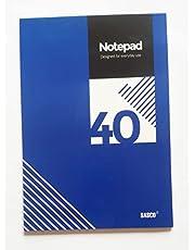 بلوك نوت غراء 40 ورقة مقاس A4 من ساسكو- أزرق